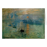 Monet's Impression Sunrise (soleil levant) - 1872 Greeting Card
