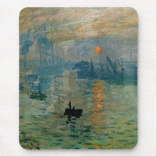 Monet's Impression Sunrise (soleil levant) - 1872 Mouse Mat