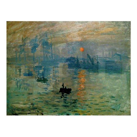 Monet's Impression Sunrise (soleil levant) - 1872 Postcard