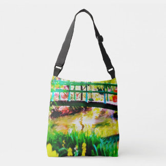 Monet's Japanese Garden Watercolor Crossbody Bag