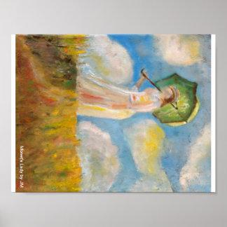 Monet's Lady Print