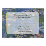 Monet's Water Lilies RSVP Response Card Personalised Announcements