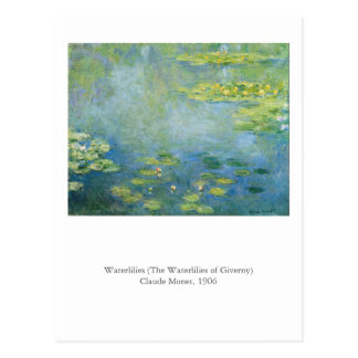 Monet's Waterlilies Postcard