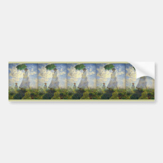 Monet's Woman with a Parasol (The Stroll / Walk) Bumper Sticker
