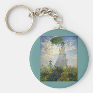 Monet's Woman with a Parasol (The Stroll / Walk) Keychain
