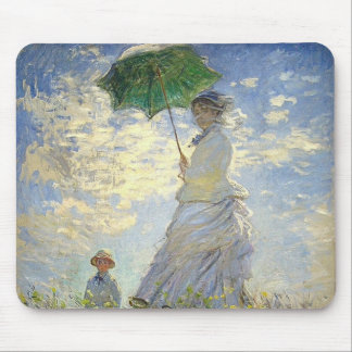 Monet's Woman with a Parasol (The Stroll / Walk) Mouse Pad