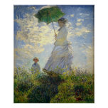 Monet's Woman with a Parasol (The Stroll / Walk) Poster