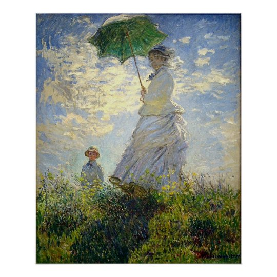 Monet's Woman with a Parasol (The Stroll /