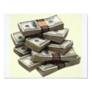 money 11 cm x 14 cm invitation card
