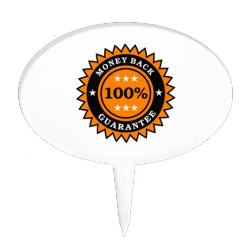 Money Back Guarantee Cake Toppers