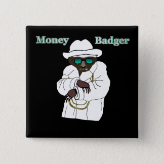 Money Badger 15 Cm Square Badge
