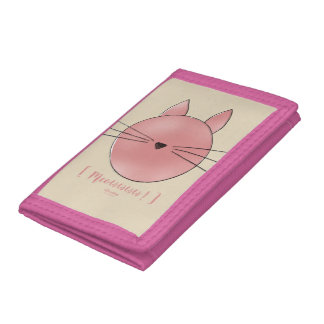 Money bag Calisto the Cat Trifold Wallet