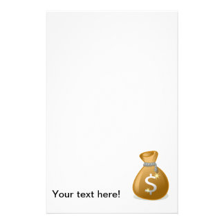 Money bag clipart personalized stationery