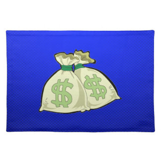 Money Bags; Blue Placemats
