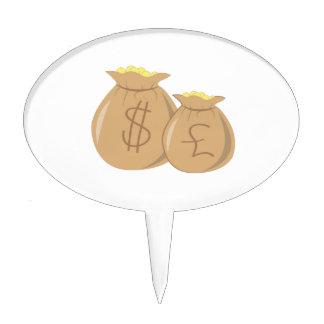 Money Bags Cake Topper