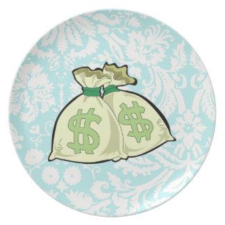 Money Bags; Cute Plate