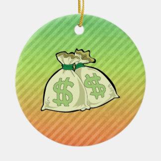 Money Bags design Christmas Ornament