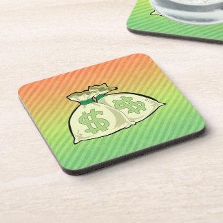 Money Bags design Drink Coaster
