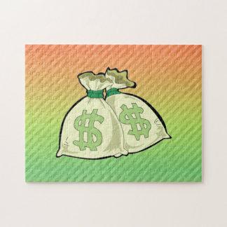 Money Bags design Jigsaw Puzzle