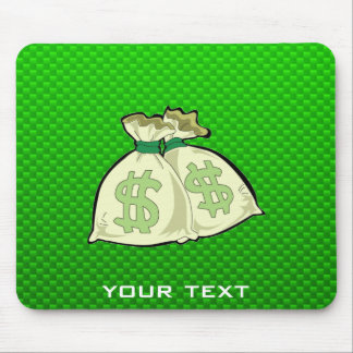 Money Bags; Green Mouse Pad