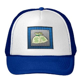 Money Bags; Metal-look Trucker Hats
