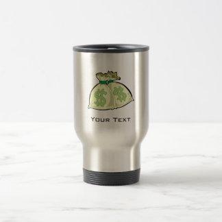 Money Bags; Metal-look Coffee Mug