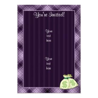 Money Bags; Purple Custom Invite