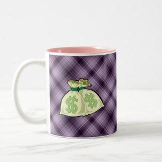 Money Bags; Purple Coffee Mug