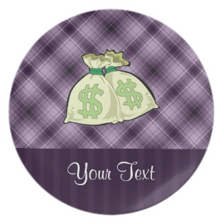 Money Bags; Purple Plates