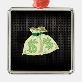 Money Bags; Rugged Christmas Ornament