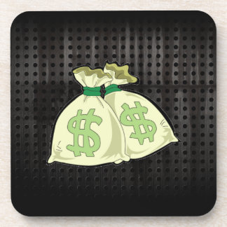Money Bags Rugged Coasters