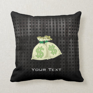 Money Bags; Rugged Throw Pillow