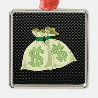 Money Bags; Sleek Christmas Tree Ornaments