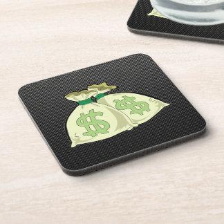 Money Bags Sleek Drink Coaster
