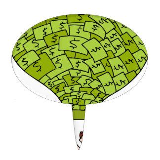 Money Balloon Financial Cartoon