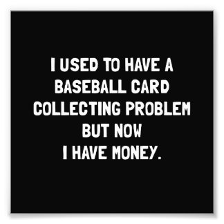 Money Baseball Card Collecting Problem Photo