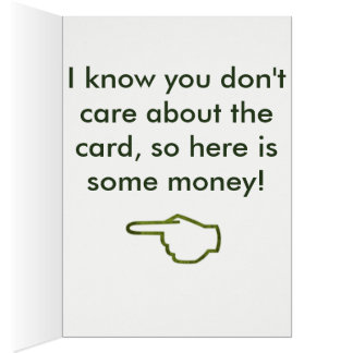 Money Birthday Card 2