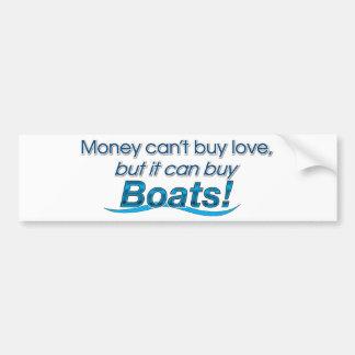 Money & Boats Bumper Sticker