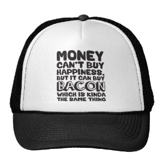 Money Can't Buy Happiness, But It Can Buy Bacon Mesh Hat