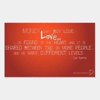 Money Can't Buy Love Rectangular Sticker