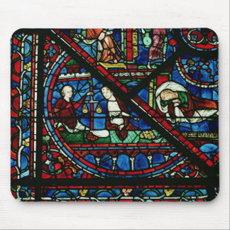 Money Changers in the Temple, detail from a window Mouse Pad