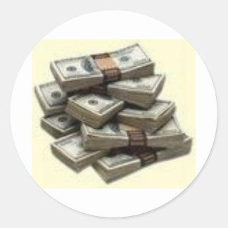 money classic round sticker