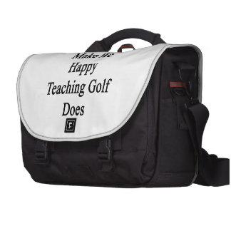 Money Doesn't Make Me Happy Teaching Golf Does Laptop Messenger Bag