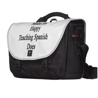 Money Doesn't Make Me Happy Teaching Spanish Does. Laptop Bag