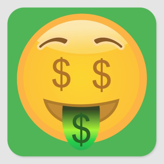 Money Emoji Square Sticker