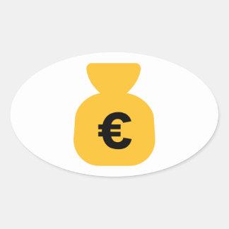 Money Euro Oval Stickers