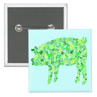 Money Hog 15 Cm Square Badge