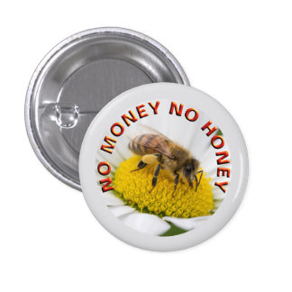 money honey 3 cm round badge