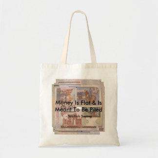 money is flat scottish bag