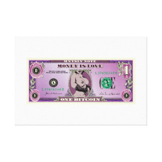 Money is Love Art Canvas Print